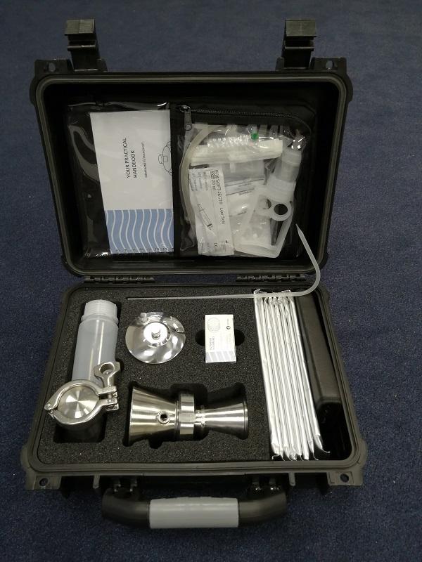 Testausrüstung zur Kontrolle der Wasserqualität